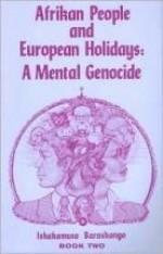 Afrikan People and European Holidays (Vol. 2) Rev Barashango - Product Image
