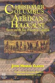 Christopher Columbus and the African Holocaust: Dr. John Henrik Clarke (Book) - Product Image