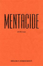Mentacide: (Book) Mwalimu K. Baruti - Product Image